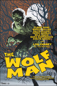 """The Wolf Man, 129/225 by Eric Powell (Mondo, 2018). Mint. Hand Numbered Limited Edition Screen Print (36"""" X 24""""..."""