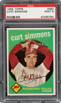 Baseball Cards:Singles (1950-1959), 1959 Topps Curt Simmons #382 PSA Mint 9 - Only One Higher....