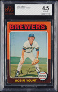 Baseball Cards:Singles (1970-Now), 1975 Topps Robin Yount #223 BVG VG-EX+ 4.5....