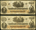 CT41/315 Counterfeits $100 1862 Two Examples Very Fine; Fine-Very Fine