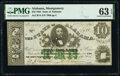 Obsoletes By State:Alabama, Montgomery, AL- State of Alabama $10 Jan. 1, 1864 Cr. 14 PMG Choice Uncirculated 63 EPQ.. ...