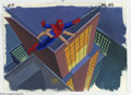 "Original Comic Art:Miscellaneous, Spider-Man ""Morbius"" Animation Cel and Background Original Art(Marvel, circa 1990s). Spidey still favors his ""regular"" arms..."