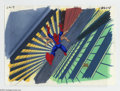 """Original Comic Art:Miscellaneous, Spider-Man """"Morbius"""" Animation Cel and Background Original Art(Marvel, circa 1990s). Even with six arms, Spidey somehow los..."""