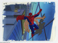 "Original Comic Art:Miscellaneous, Spider-Man ""Morbius"" Animation Cel and Background Original Art(Marvel, circa 1990s). Look ma -- six hands! This set-up feat..."