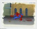 "Original Comic Art:Miscellaneous, Spider-Man ""Sting of the Scorpion"" Animation Cel and BackgroundOriginal Art (Marvel, circa 1990s). Your friendly neighborho..."