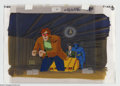 """Original Comic Art:Miscellaneous, X-Men """"Dazzled"""" Animation Cel and Background Original Art (Marvel,circa 1990s). The Beast, Professor X, and Cyclops stand t..."""