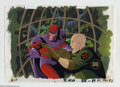 "Original Comic Art:Miscellaneous, X-Men ""Beauty and the Beast"" Animation Cel and Background OriginalArt (Marvel, circa 1990s). Professor X and Magneto face o..."