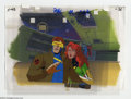 "Original Comic Art:Miscellaneous, X-Men ""The Lotus and the Steel"" Animation Cel and BackgroundOriginal Art (Marvel, circa 1990s). Cyclops and Phoenix cameo o..."