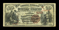 National Bank Notes:Kentucky, Louisville, KY - $20 1882 Brown Back Fr. 498 The Union NB Ch. #(S)4145. ...