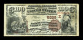 National Bank Notes:Pennsylvania, Pittsburgh, PA - $100 1882 Brown Back Fr. 530 The Bank of Pittsburgh, National Assoc Ch. # (E)5225. ...