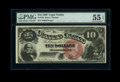 Large Size:Legal Tender Notes, Fr. 103 $10 1880 Legal Tender PMG About Uncirculated 55 EPQ....