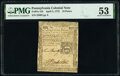 Colonial Notes:Pennsylvania, Pennsylvania April 3, 1772 18d PMG About Uncirculated 53.. ...