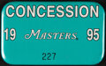 Golf Collectibles:Miscellaneous, 1995 Masters Concession Badge - Tiger Woods First Masters!...