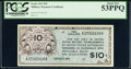 Military Payment Certificates:Series 461, Series 461 $10 First Printing PCGS About New 53PPQ.. ...