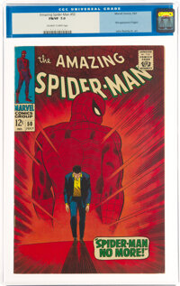 The Amazing Spider-Man #50 (Marvel, 1967) CGC FN/VF 7.0 Off-white to white pages