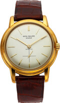 Timepieces:Wristwatch, Patek Philippe, A Very Rare Yellow Gold Ref. 2551 For Gübelin, Original Box, Exceptional Condition, circa 1959. ...