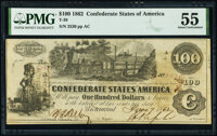 T39 $100 1862 PF-5 Cr. 290 PMG About Uncirculated 55