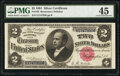 Large Size:Silver Certificates, Fr. 245 $2 1891 Silver Certificate PMG Choice Extremely Fine 45.. ...