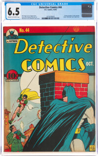 Detective Comics #44 (DC, 1940) CGC FN+ 6.5 Cream to off-white pages
