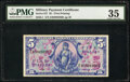 Military Payment Certificates:Series 521, Series 521 $5 First Printing PMG Choice Very Fine 35.. ...