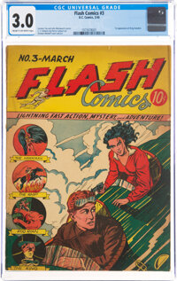 Flash Comics #3 (DC, 1940) CGC GD/VG 3.0 Cream to off-white pages