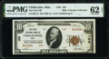 Chillicothe, OH - $10 1929 Ty. 2 The First National Bank Ch. # 128 PMG Uncirculated 62 EPQ