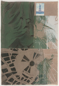 Robert Rauschenberg (1925-2008) Statue of Liberty, from New York, New York, 1983 Screenprint in colors with collag