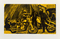 Prints & Multiples, Russell Young (b. 1960). Easy Rider (Yellow), 2007. Screenprint on paper. 29-1/2 x 44-1/4 inches (74.9 x 112.4 cm) (shee...