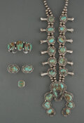American Indian Art:Jewelry and Silverwork, Four Navajo Jewelry Items... (Total: 5 )