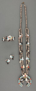 American Indian Art:Jewelry and Silverwork, A Zuni Jewelry Suite... (Total: 4 )