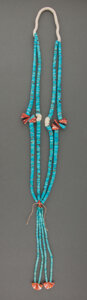 American Indian Art:Jewelry and Silverwork, A Santo Domingo Necklace...