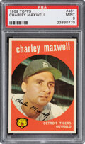 Baseball Cards:Singles (1950-1959), 1959 Topps Charley Maxwell #481 PSA Mint 9 - Pop Four, Non...