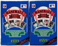 Baseball Cards:Unopened Packs/Display Boxes, 1989 Upper Deck Baseball High Number Series Wax Box Lot of...