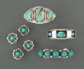 American Indian Art:Jewelry and Silverwork, Five Navajo Jewelry Items... (Total: 7 )