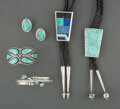 American Indian Art:Jewelry and Silverwork, Five Southwest Jewelry Items... (Total: 6 )
