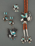 American Indian Art:Jewelry and Silverwork, A Zuni Jewelry Suite... (Total: 5 )