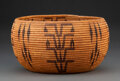 American Indian Art:Baskets, A Washo Polychrome Coiled Bowl...