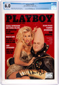 Movie/TV Memorabilia:Autographs and Signed Items, Playboy #v40 #8 Signed by Dan Aykroy...