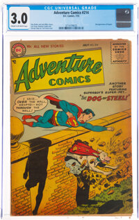 Adventure Comics #214 (DC, 1955) CGC GD/VG 3.0 Cream to off-white pages
