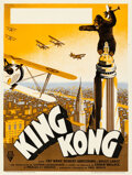 """Movie Posters:Horror, King Kong (RKO, 1933). Very Fine+ on Linen. French Petite (11.5"""" X 15.5"""").. ..."""