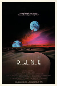 """Dune (Universal, 1984). Rolled, Very Fine. Autographed One Sheet (27"""" X 41"""") Advance"""