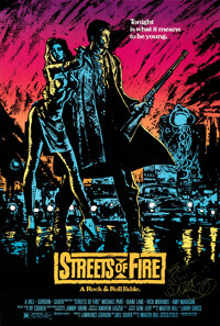 """Streets of Fire (Universal, 1984). Rolled, Very Fine+. Autographed One Sheet (27"""" X 40"""")"""