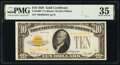Small Size:Gold Certificates, Fr. 2400* $10 1928 Gold Certificate Star. PMG Choice Very Fine 35.. ...