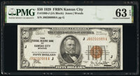 Fr. 1880-J $50 1929 Federal Reserve Bank Note. PMG Choice Uncirculated 63 EPQ