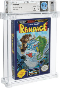 Rampage - Wata 9.4 A Sealed [Oval SOQ TM, Later Production], NES Data East 1988 USA