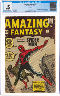 Amazing Fantasy #15 Incomplete (Marvel, 1962) CGC PR 0.5 Cream to off-white pages