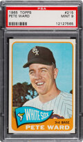 Baseball Cards:Singles (1960-1969), 1965 Topps Pete Ward #215 PSA Mint 9 - Only One Higher! ...