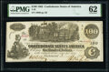 Confederate Notes:1862 Issues, T39 $100 1862 PF-4 Cr. 293 PMG Uncirculated 62.. ...