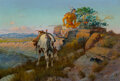 Paintings, Olaf Carl Seltzer (American, 1877-1957). The Sentinel. Oil on canvas. 14 x 20-1/2 inches (35.6 x 52....