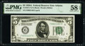 Small Size:Federal Reserve Notes, Fr. 1951-F $5 1928A Federal Reserve Note. PMG Choice About...